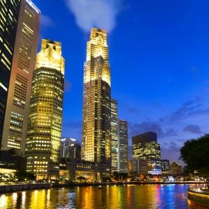 Singapur - der River am Abend - von Roland Hartmann