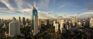 by Roland Hartmann. Jakarta, Hauptstadt Indonesiens mit rund 30 Millionen Einwohner